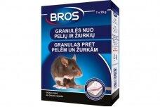 Granulės nuo pelių ir žiurkių 140 g Bros