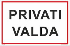 """Plastikinė lentelė """"privati valda""""200x300"""