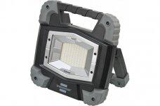 """Mobilus įkraunamas """"Bluetooth"""" LED prožektorius TORAN 4000 MBA su šviesos valdymo APP, IP55, 3800lm, 40W"""