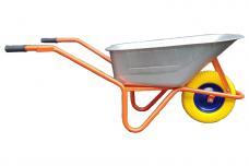 Karutis oranžinis WB108 85L, 200kg poliuretaniniu geltonu ratu