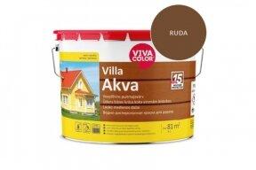 Dažai matiniai medienai VivacolorVilla-Akva 540X ruda 9,3 l