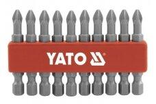 "PH2 1/4"" 50mm 10vnt. ANTGALIŲ RINK. YATO"