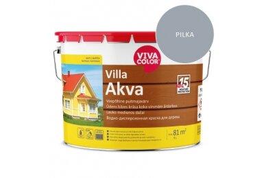 Medinių Fasadų Dažai VIVACOLOR VILLA AKVA, Šviesiai Pilkos RAL7040 Sp., 9 L
