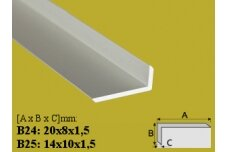 Profilis Effector, kampinis, B24, 100 cm