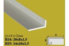 Profilis Effector, kampinis, B24, 200 cm