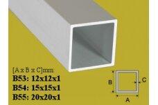 Profilis Effector vamzdis kvadratinis Effector, B55, 200cm